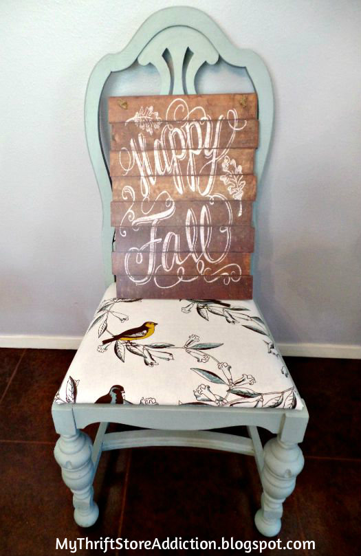 Happy Fall chair display