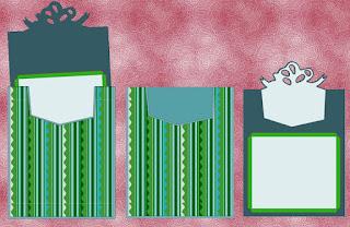 """Taschenkarte """"Geschenk"""" Einzelteile"""