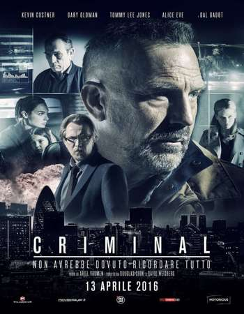 Poster Of Criminal 2016 Dual Audio 720p BRRip ORG [Hindi - English] ESubs Free Download Watch Online Worldfree4u