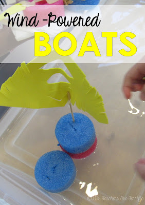 STEM Challenge: Students experiment with different kinds of sails and then build the ultimate sail for racing an unsinkable boat!