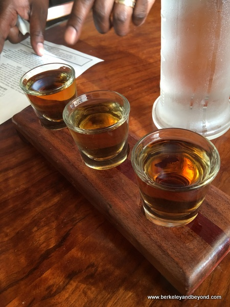 flight of whiskeys at Hutch Bar & Kitchen in Oakland, California