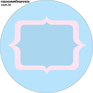 Pink and Light Blue: Free Printable Cupcake Wrappers and Toppers.