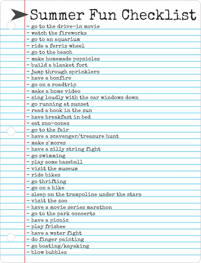 5c2ba999fda The Freckled Fox  Summer Countdown - 1  Summer Fun Checklist