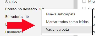 Como Eliminar todo tu correo Basura en un solo clic