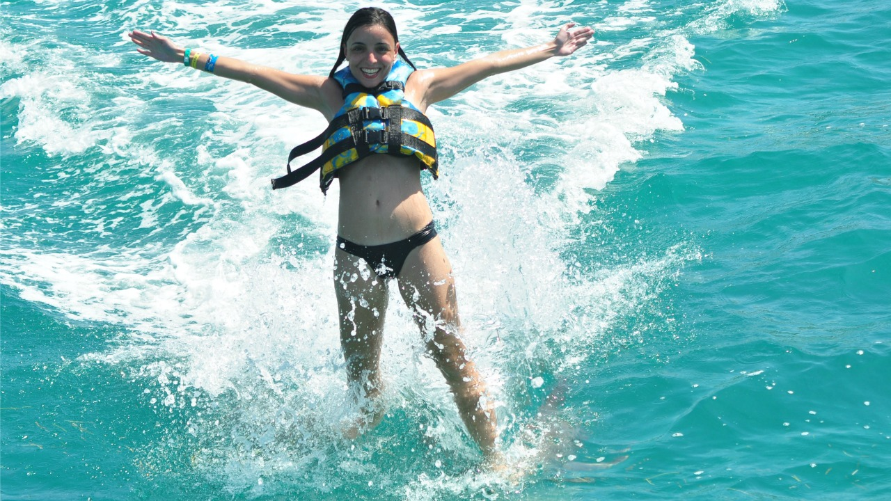 nado golfinhos cancun