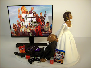 Perfect PS4 Wedding Cake Toppers