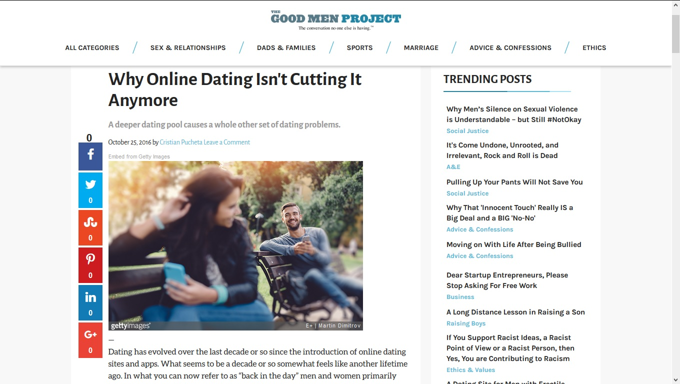 Point of view on online dating