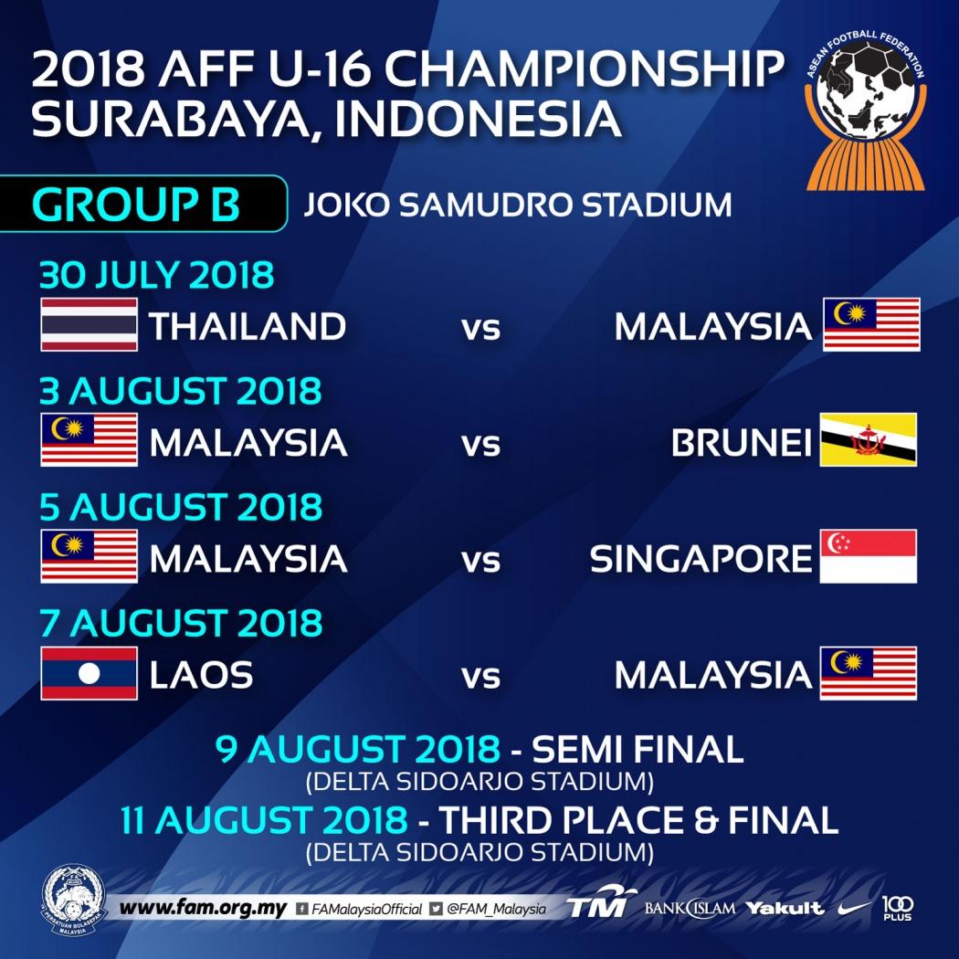 AFF U16 2018 Malaysia