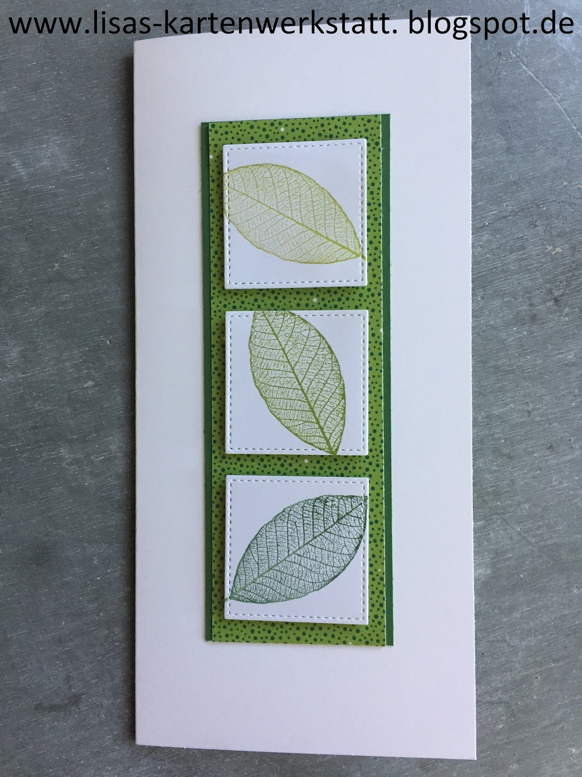 Lisas Kartenwerkstatt: Zarte Blätter