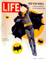 Adam West as Batman on the cover of Life magazine