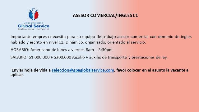 Asesor Comercial (Ingles Nivel C1)
