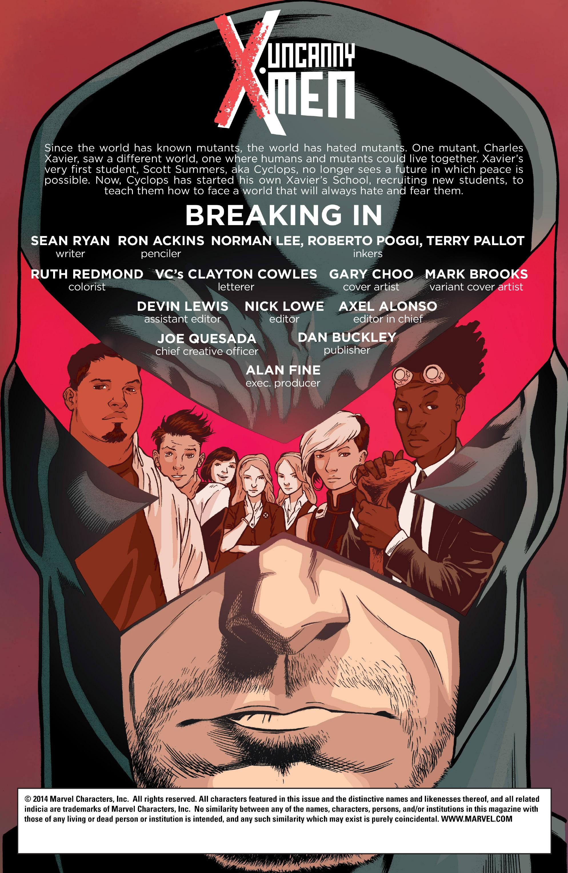 Read online Uncanny X-Men (2013) comic -  Issue # _Special 1 - 2