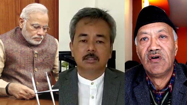 Narendra Modi,Munish Tamang,Harka Bahadur Chhetri