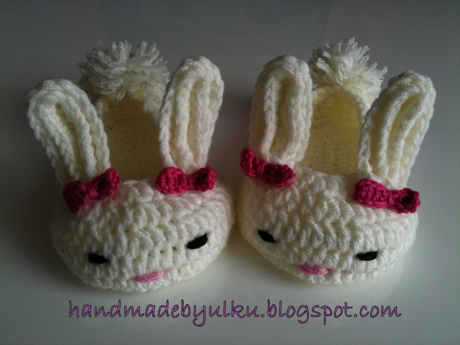 Handmade By ülkü Gratis Anleitung Gehäkelte Hasenschühchen Für Baby