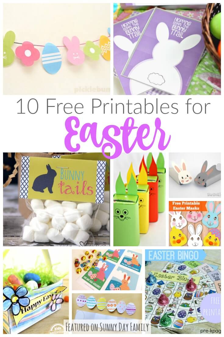 graphic about Printable Easter Decorations referred to as 10 Free of charge Printables for Easter: Decorations, Snacks, Game titles