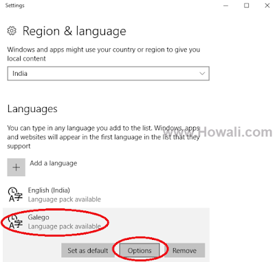 Change Display Language Windows 10