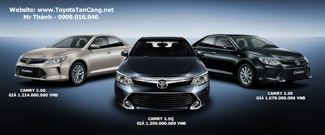 Ba phiên bản Toyota Camry 2015 có mức giá rất chênh lệch