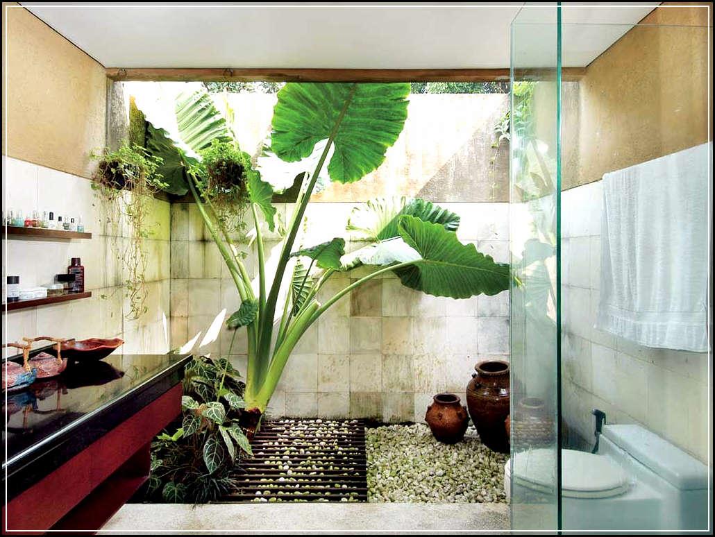 30 Desain Kamar Mandi Minimalis Nuansa Alam Dengan Batu Alam