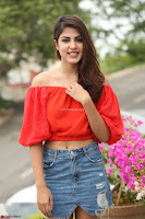 Rhea Chakraborty in Red Crop Top and Denim Shorts Spicy Pics ~  Exclusive 104.JPG