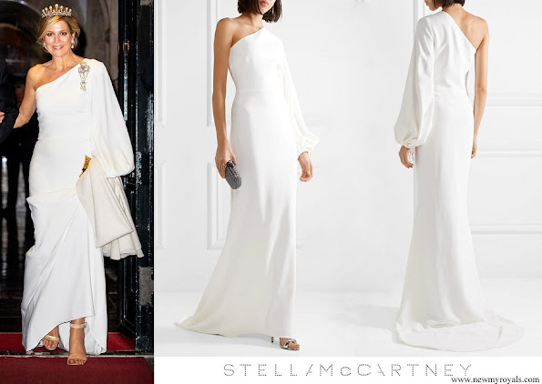 Queen Maxima wore Stella McCartney One-shoulder Stretch-cady Gown
