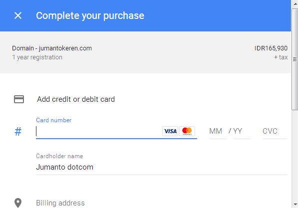 harga domain di google