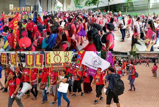 Aksi Demo Tuntut Kenaikan Gaji BMI Hong Kong Diterima Oleh Perwakilan Departement Labour
