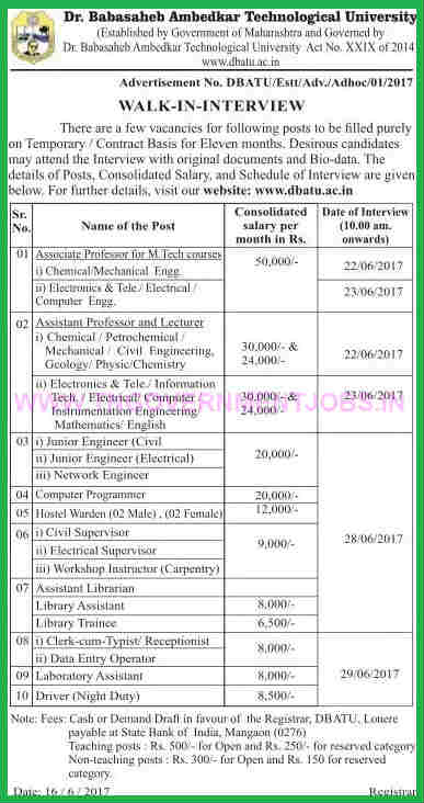 DBATU-recruitment-notification-www-tngovernmentjobs-in
