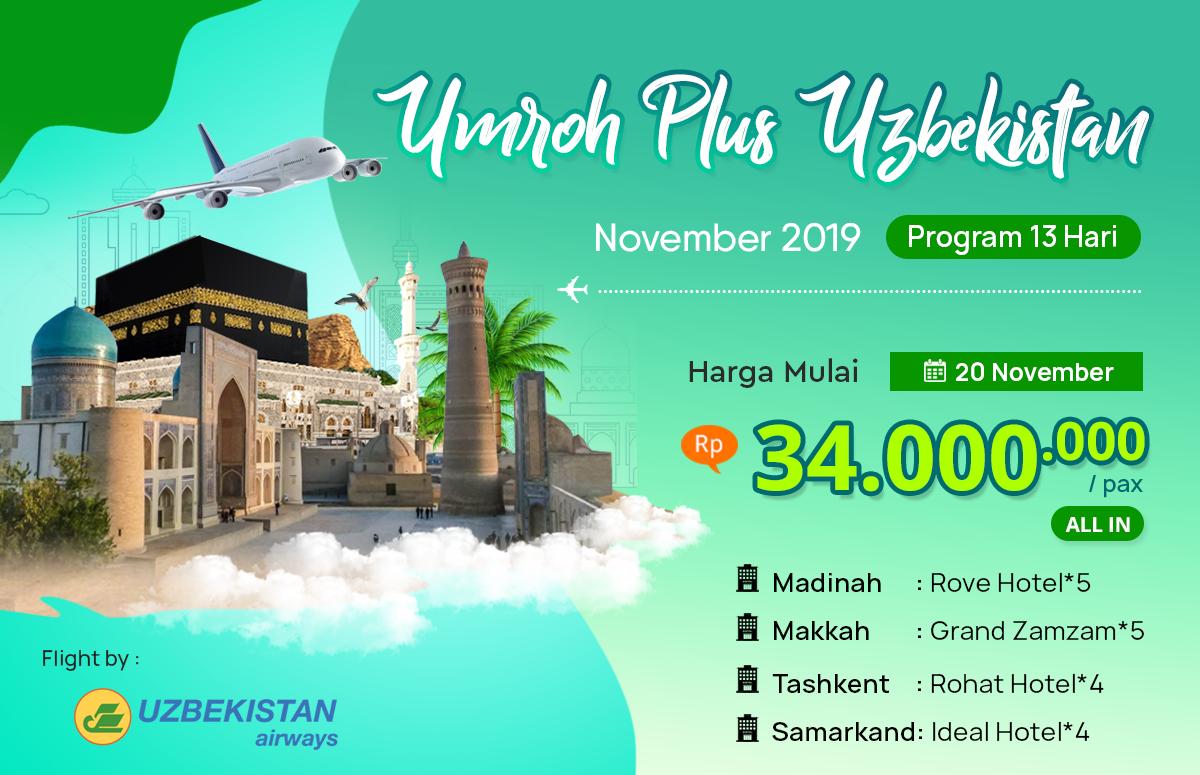Biaya Paket Umroh November 2019 Plus Uzbekistan Murah