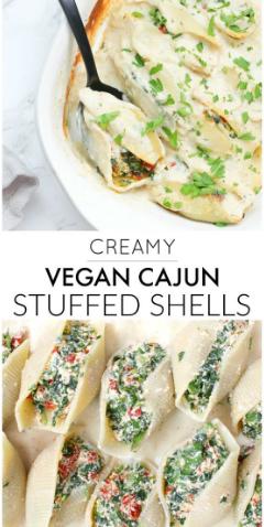 Creamy Vegan Cajun Stuffed Shells