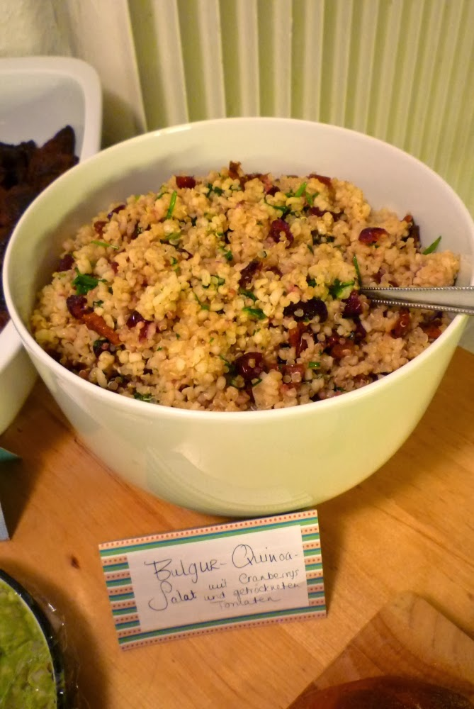 Squirrel of noms tasty treats party food a quick overview bulgur and quinoa salad recipe with forumfinder Image collections