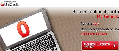 aprire conto my genius unicredit online