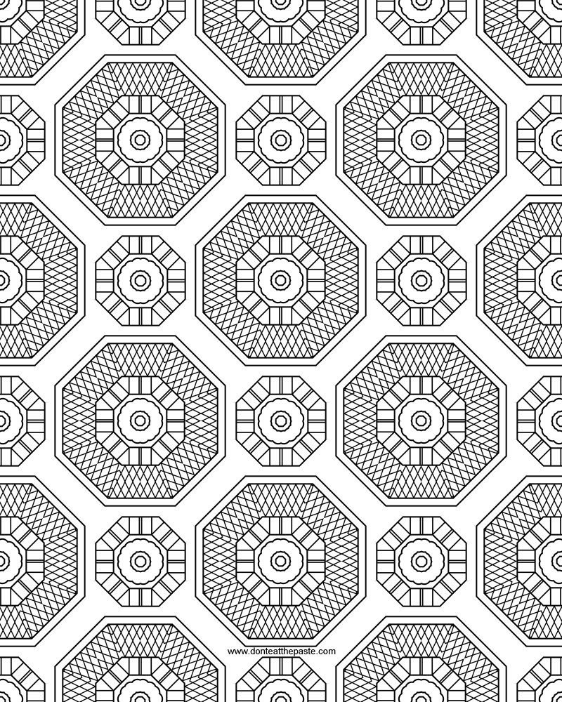 Don 39 t eat the paste march 2012 for Coloring pages designs patterns