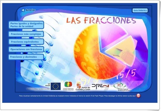 """""""Las fracciones"""" (Aplicación interactiva de Matemáticas de Secundaria)"""