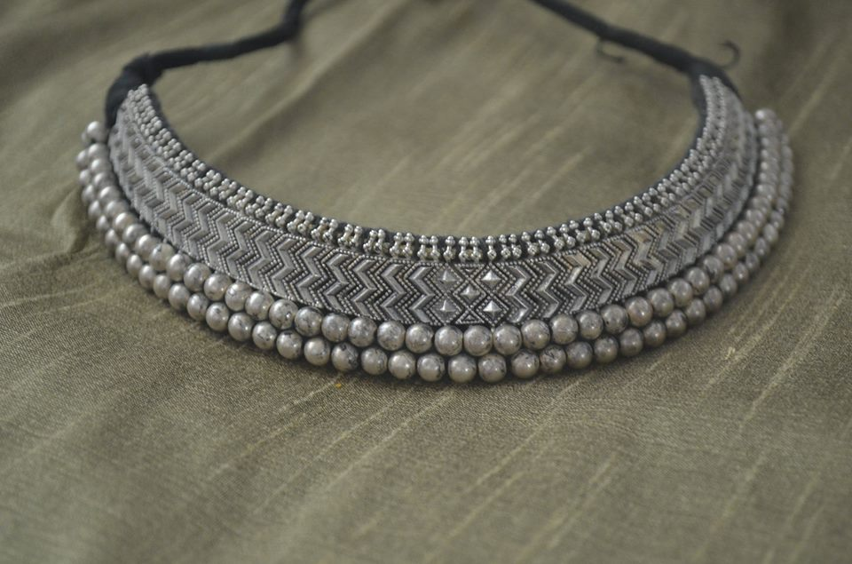 india necklace silver online jewellery images buy tribal oxidized best jewelry bold nagasrika on pinterest