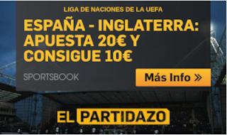 betfair promocion España vs Inglaterra 15 octubre