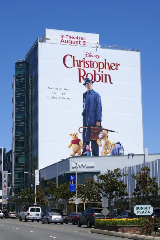 Giant Christopher Robin film billboard