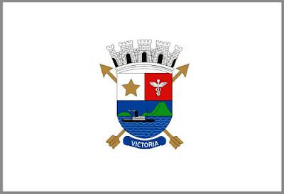 Bandeira de Vitória. Fonte: site ificial da Prefeitura Municipal de Vitória