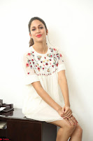 Lavanya Tripathi in Summer Style Spicy Short White Dress at her Interview  Exclusive 125.JPG