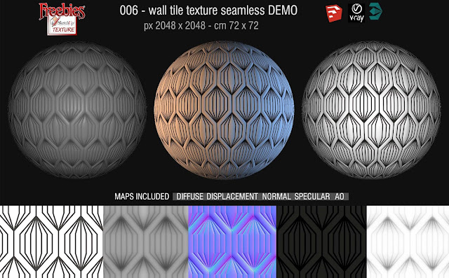 06 - wall tile texture seamless and maps demo