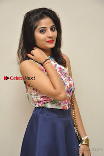 Kannada Actress Mahi Rajput Pos in Floral Printed Blouse at Premam Short Film Preview Press Meet  0018.jpg