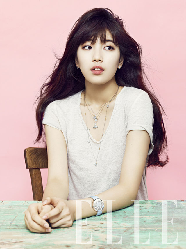 suzy is naturally lovely for elle daily k pop news. Black Bedroom Furniture Sets. Home Design Ideas
