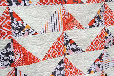 baby quilt from Michael MIller fabric