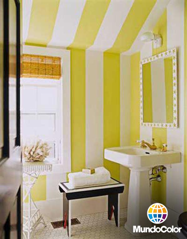 Mundocolor Bruguer 28 Ideas Para Decorar Tus Paredes Con Pintura - Pintar-paredes-a-rayas-verticales