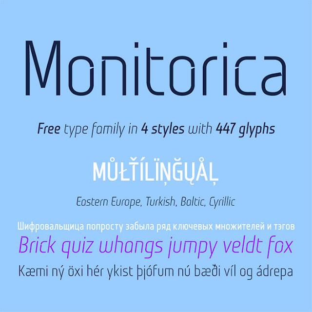 Monitorica Stencil Font