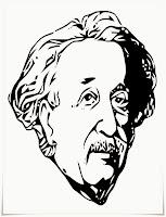 Mewarnai Gambar Albert Einstein Jokowi
