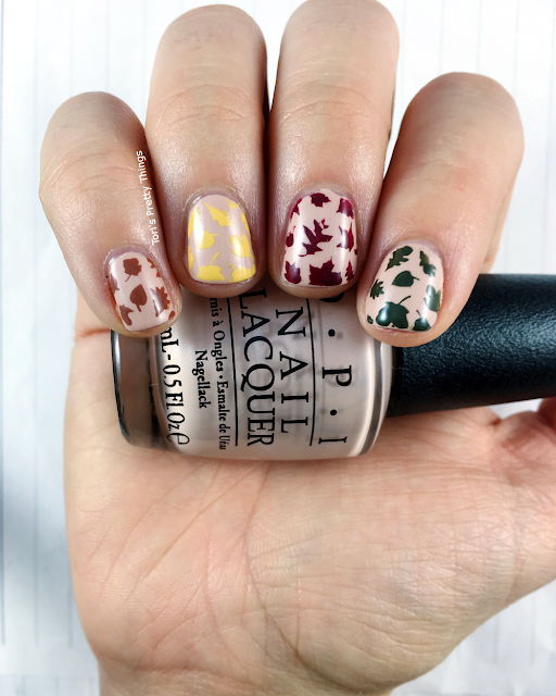 Tori's Pretty Things// OPI Pale to the Chief Fall Leaves Nail Art