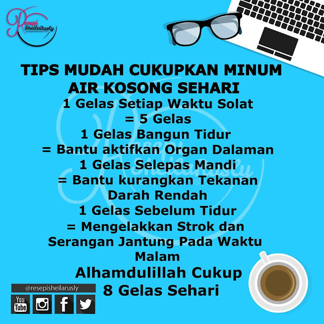 Wordless Wednesday # 555...Tips Minum Air Sehari