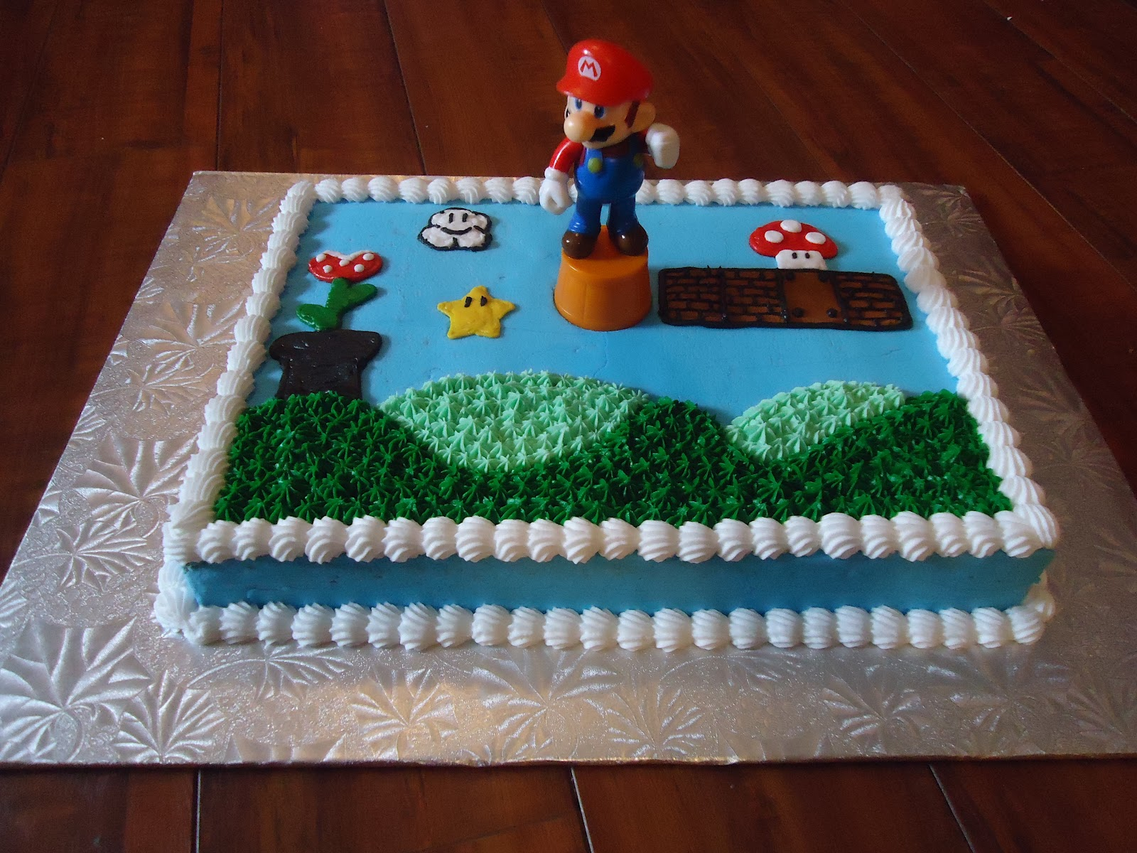 Simple Mario Sheet Cake Cake Decorating Ideas Pinterest