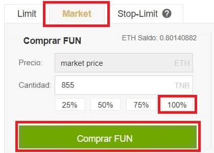 FunFair (FUN) Comprar y Guardar en Wallet Monedero
