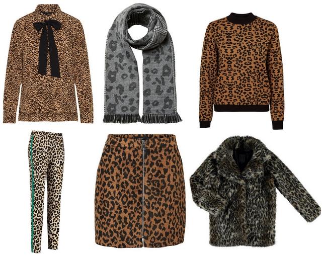 Blogger shop tip najaarstrend kleding met panterprint leopard rok sjaal blouse